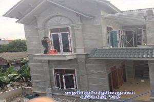 Cửa Nhôm Xingfa Màu Vân Gỗ Nhập Khẩu Tại Nhật Tân Hà Nội