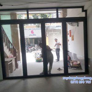 Cửa Nhôm Xingfa 4 Cánh Mở Quay